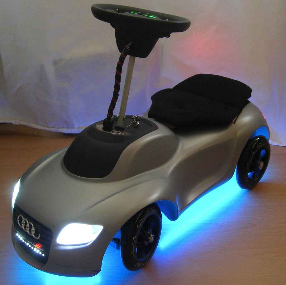 bobby car mit led beleuchtung